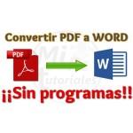 Imagen de Convertir PDF a Word Sin Programas en pocos segundos