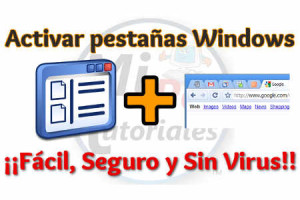 Como activar pestañas en ventanas de Windows gratis