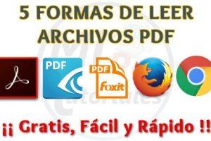 5 Formas de abrir un archivo PDF