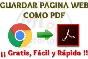 Como guardar Página Web como PDF