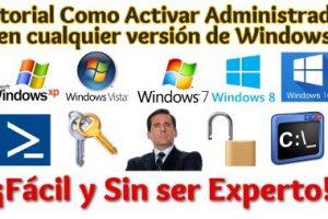 Como Activar el Administrador de Windows en todas las versiones